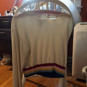 Forever 21 Long Sleeve Cropped Sweatshirt